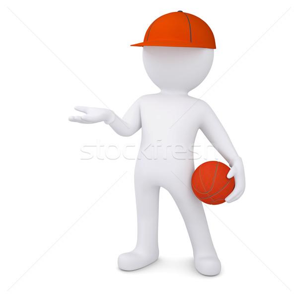 3D мяча изолированный оказывать белый Сток-фото © cherezoff