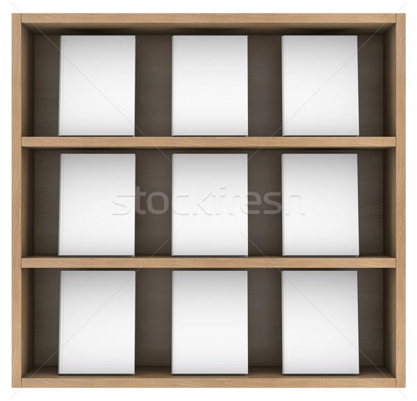 Bookshelf Stock photo © cherezoff