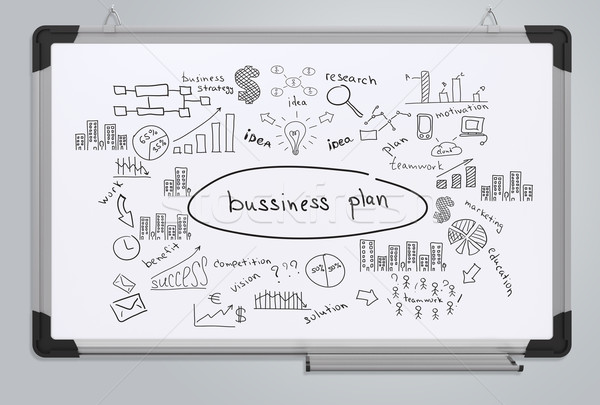 Negocios plan oficina mercado gráfico Foto stock © cherezoff