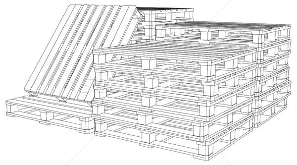 Set of pallets Stock photo © cherezoff