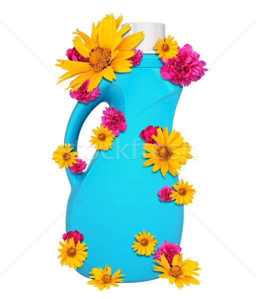 Blue plastic bottle Stock photo © cherezoff