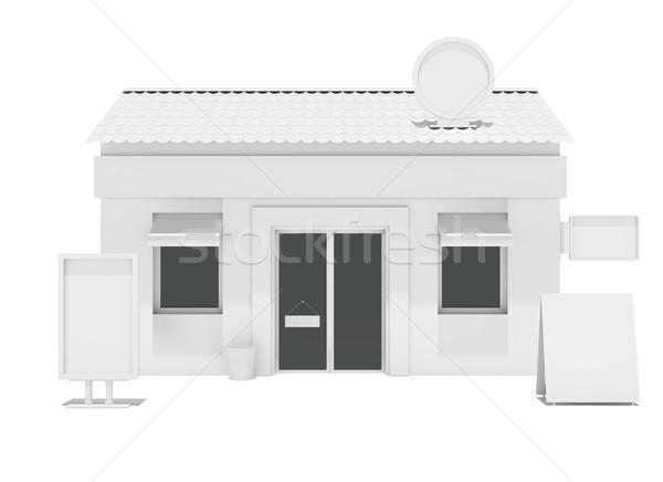 ストア 建物 ショーケース 看板 孤立した 3次元の図 ストックフォト © cherezoff