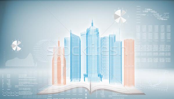 здании синий Top книгах будущем Сток-фото © cherezoff