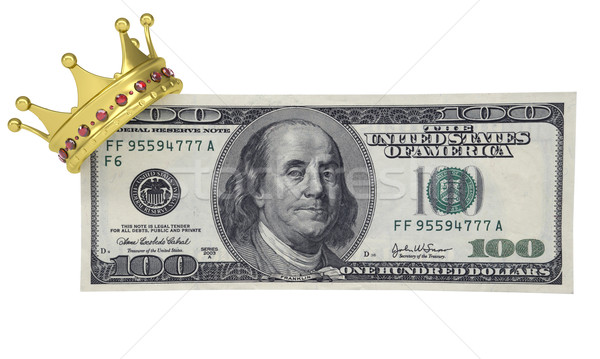 One hundred dollars with the crown Stock photo © cherezoff