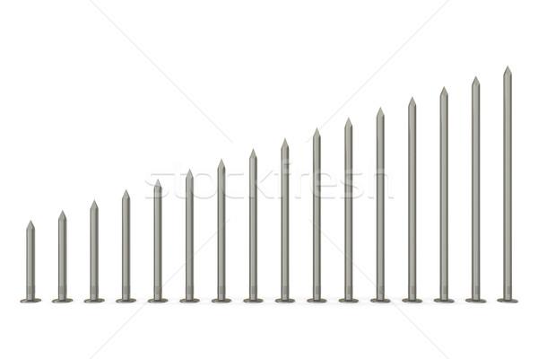 Size range of nails Stock photo © cherezoff