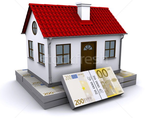 home bundles of euro Stock photo © cherezoff