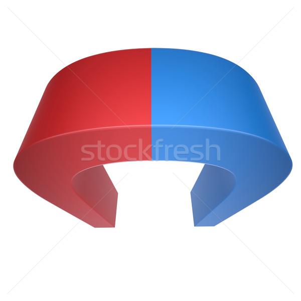 Blu rosso magnete isolato bianco Foto d'archivio © cherezoff