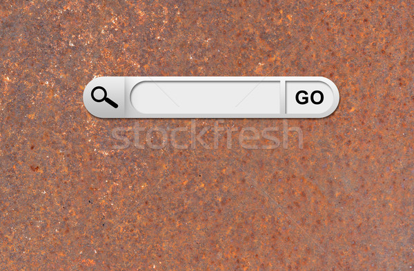 Keresés bár böngésző öreg rozsdás fém felület Stock fotó © cherezoff