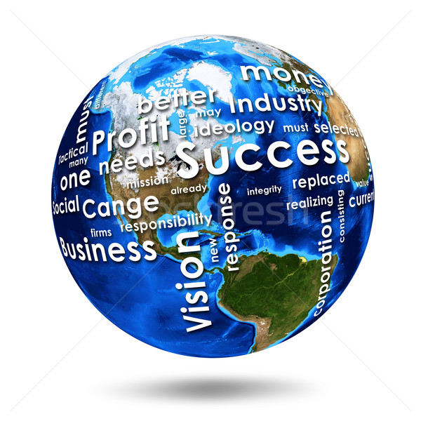 On the Earth written business words Stock photo © cherezoff