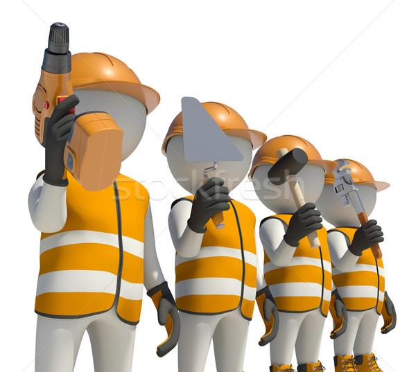Especial ropa casco herramientas aislado Foto stock © cherezoff