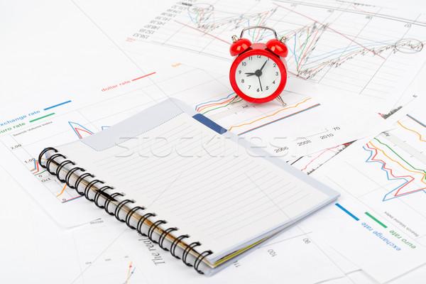 ébresztőóra notebook üzlet iratok szám riasztó Stock fotó © cherezoff