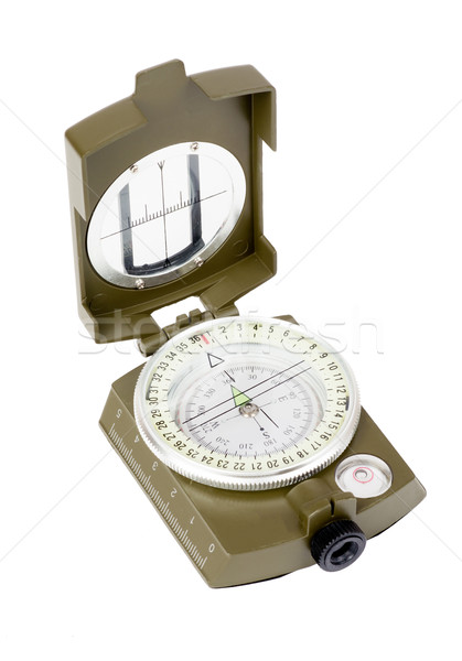 Vintage compass on white Stock photo © cherezoff