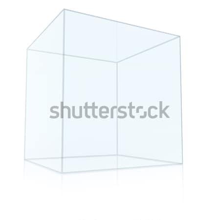 Empty Transparent Glass Box Cube Stock photo © cherezoff