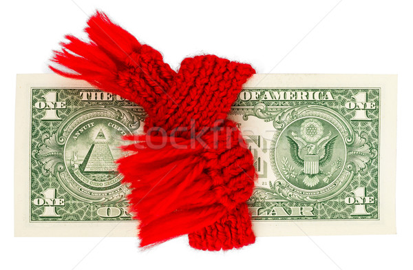 Dollar wrapped in a red scarf Stock photo © cherezoff