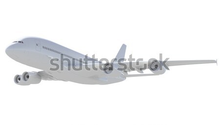 White passenger plane. A side view Stock photo © cherezoff