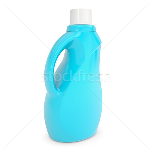 пластиковых бутылку домашнее хозяйство химикалии изолированный оказывать Сток-фото © cherezoff