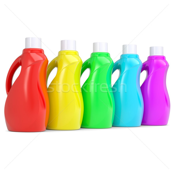 Several of multi-colored plastic bottles Stock photo © cherezoff