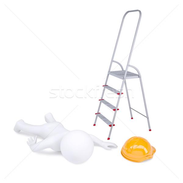 Escada isolado branco construção Foto stock © cherezoff