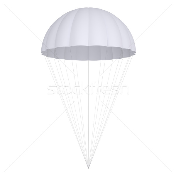 White parachute Stock photo © cherezoff