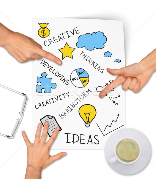 Collage expressing concept of creative ideas Stock photo © cherezoff