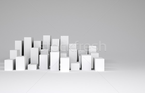 Minimalist şehir beyaz gri kentsel Stok fotoğraf © cherezoff
