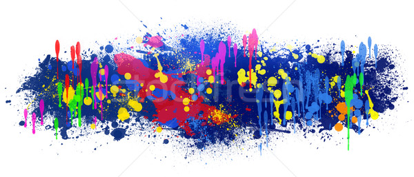 Abstract background is colored blots on white Stock photo © cherezoff