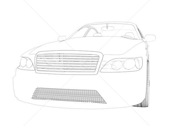 Graphic car model on white Stock photo © cherezoff