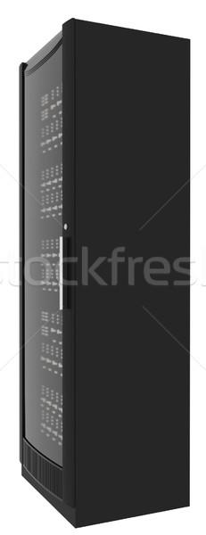 Fém öltözőszekrény fehér izolált oldalnézet Stock fotó © cherezoff