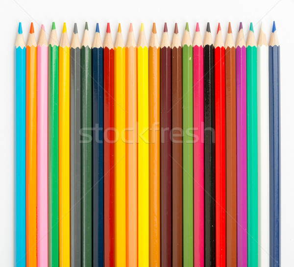 Set of colorful crayons Stock photo © cherezoff