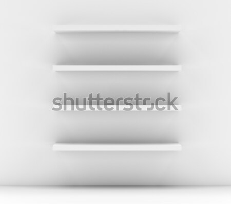 Lege witte winkel plank detailhandel Stockfoto © cherezoff