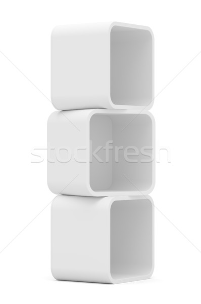 Empty white rounded showcase. Isolated Stock photo © cherezoff