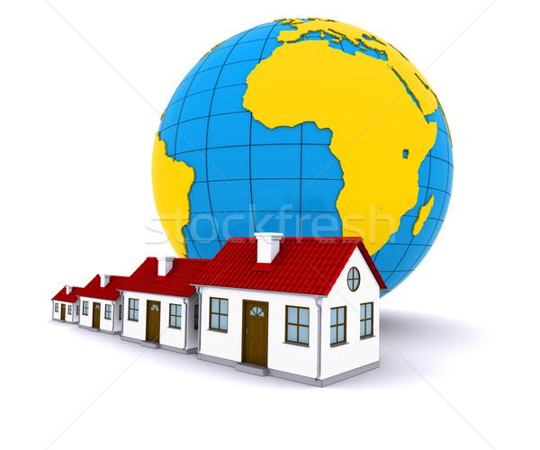 Worldwide Properties. 3d rendering on white background Stock photo © cherezoff