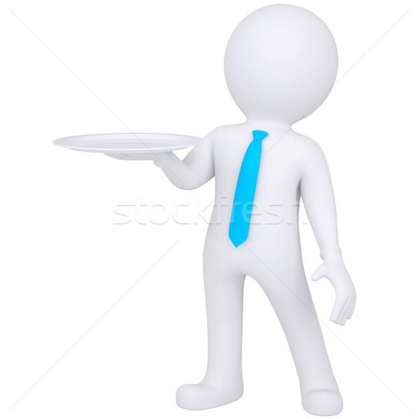 Zdjęcia stock: 3D · biały · człowiek · puchar · strony · odizolowany