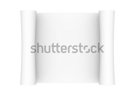Scroll of white paper Stock photo © cherezoff
