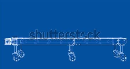 Boisko do koszykówki drutu ramki 3d odizolowany czarny Zdjęcia stock © cherezoff