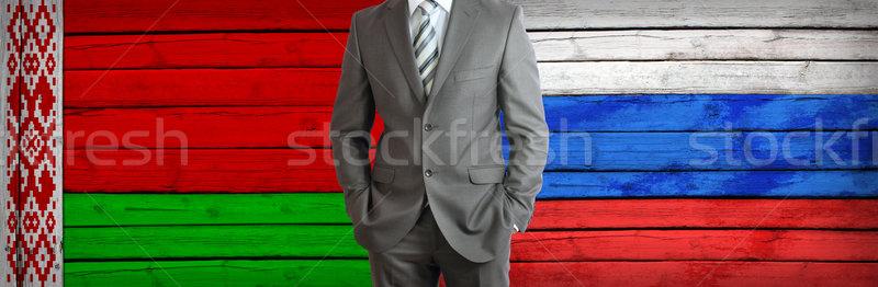 Iş Rusya Belarus işadamı takım elbise rus Stok fotoğraf © cherezoff