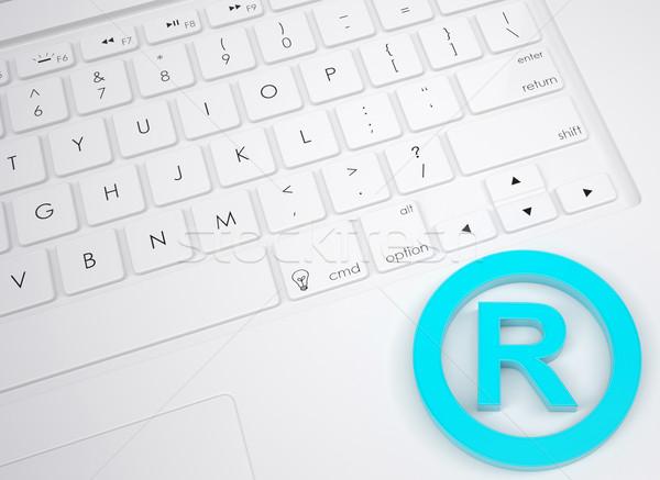 Handelsmerk symbool toetsenbord ontwerp veiligheid Stockfoto © cherezoff