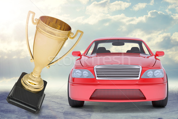 Red car and Cup Stock photo © cherezoff