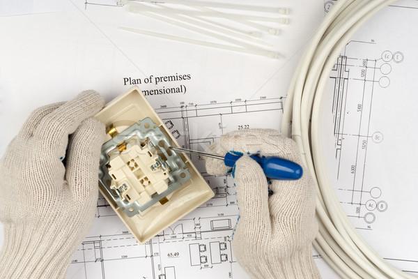 Mani presa cacciavite Foto d'archivio © cherezoff