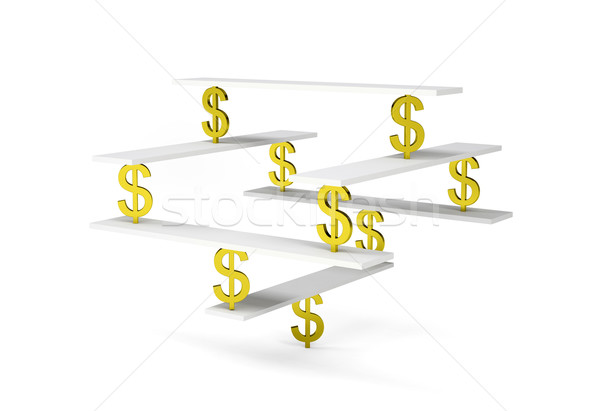Financial balance with gold dollar sign Stock photo © cherezoff