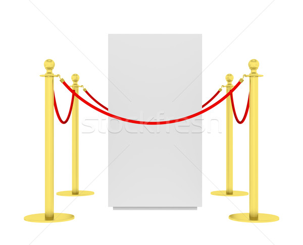 Barrier rope and red box isolated on white Stock photo © cherezoff