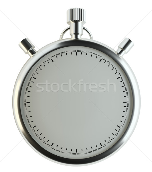 Cronógrafo aislado blanco tiempo contenido Foto stock © cherezoff