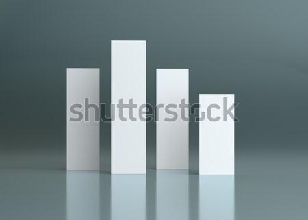 Modèle de conception 3d illustration quatre blanche avions Photo stock © cherezoff