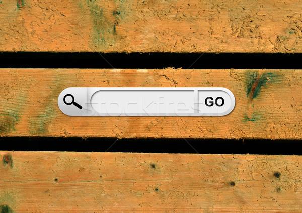 Búsqueda bar navegador pintado Foto stock © cherezoff