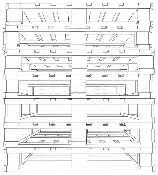 Stack of pallets Stock photo © cherezoff