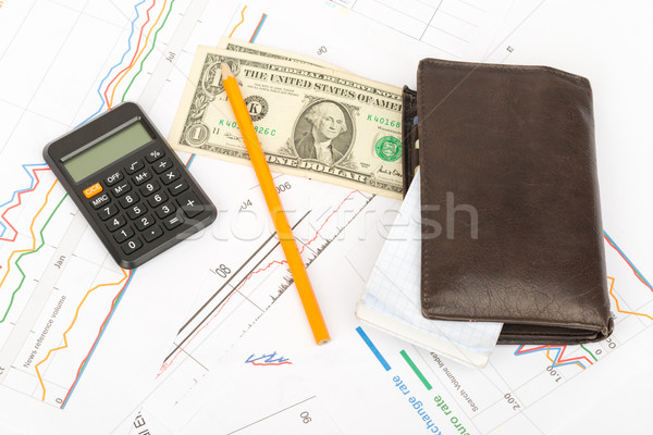 財布 お金 ビジネス 文書 ストックフォト © cherezoff