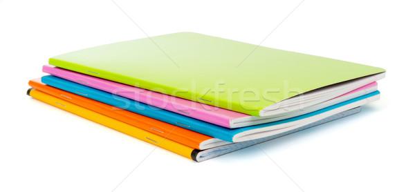 Farbenreich isoliert weiß Blatt Hintergrund Stock foto © cherezoff
