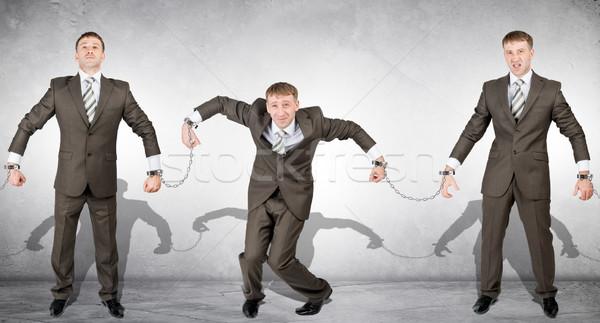 Algemas crime de colarinho branco prender pessoas negócio fundo Foto stock © cherezoff