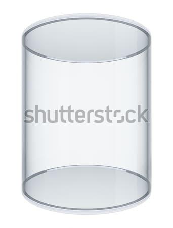 Lege cilinder display geval geïsoleerd 3D Stockfoto © cherezoff