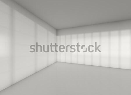 серый комнату углу тень закат пусто Сток-фото © cherezoff